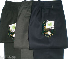 School uniform Trousers Boys Youth  slim fit half elastic waist age 4 -13