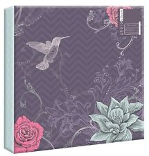 "Purple Flowers Photo Album 200 4x6"" 104 5x7"" 80 4x6"" Photos or Self Adhesive"