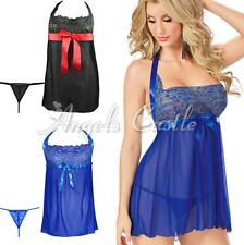 Women Sexy Lingerie Sleepwear Babydoll Underwear G-string Robe Dress Plus Size
