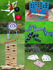GIANT GARDEN GAMES FAMILY JUMP PLAYING CARDS ARCHERY WOODEN TOWER 4 IN A ROW
