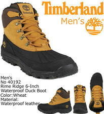40192 Timberland Mens Rime Ridge 6 Inch Waterproof Duck Boots Wheat All Sizes