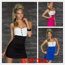Women Sexy Club Strapless Mini Slim Cocktail Lady Short Evening Party Dress