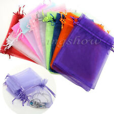 25/50/100PCS 7x9cm Organza Jewelry Candy Gift Pouches Bags Wedding Party Favor
