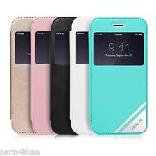 USAMS VIVA Series Window View Leather Flip Cover Case for iPhone 6 Plus 5.5 inch