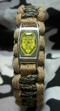U.S. Marine Corps MILITARY POLICE Badge MP 550lb Paracord Bracelet w/ Buckle