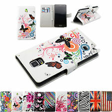 Flower Series Stand Flip PU Leather Skin Wallet Cover Case Fit For Samsung Phone
