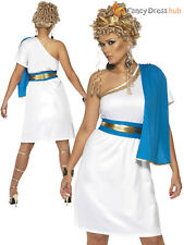 Ladies Roman Beauty Costume Adults Toga Goddess Fancy Dress Womens Outfit