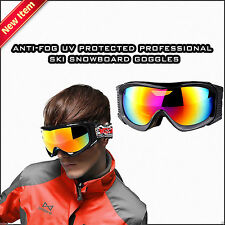 North Wolf Ski Snow Goggles Glasses with Mirrored Lens Anti-Fog UV Protection
