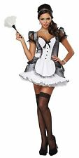 Women's Sexy French Maid Housekeeper Seductive Roleplay Halloween Costume