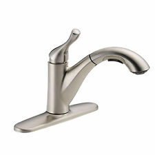 Single-Handle Pull-Out Sprayer Kitchen Faucet Stainless Sink Spray Spout Swivel