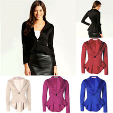 Women Business Suit Jacket Blazer Casual Slim OL Coat Casual One Button Outwear