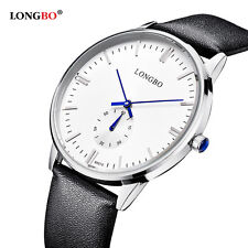 LONGBO Luxury Watch Stainless steel Leather Military Analog Quartz Watches