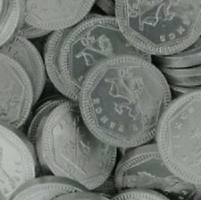 Milk Chocolate 50p Silver Foiled Covered Money Coins Sweets Qty 10 - 200