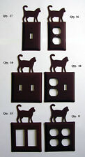 Electrical Rust Iron Kitty Cat Switchplate cover outlet toggle GFI Double Single