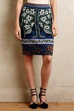 Anthropologie Bordered Jacquard Sweater Skirt by Moth $118 Sz XS, S - NWT