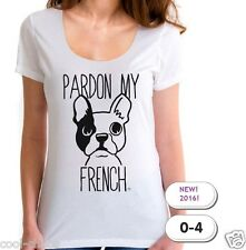 Pardon my French T-Shirt / Adorable French Bulldog Tee,So Cute! Charming! 2016