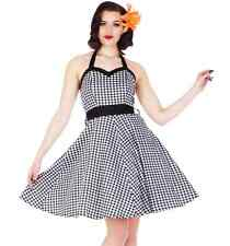 Gingham Swing Dress 1950s vintage style rockabilly sizes 8 10 14 Pinup retro