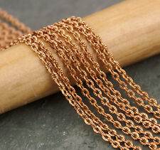 2.5mm Brass Knurled Cable Link Chain Necklace Making Findings Chains c220(2ft)