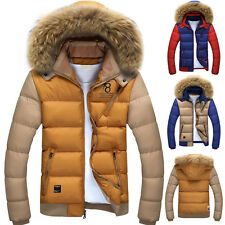 FASHION Winter Men's Thicken Coat Fur Hooded Parka Outerwear Jacket Overcoat