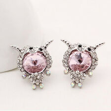 Fashion Womens Lovely Sheep Crystal Rhinestone Earrings Party stud Jewelry gift