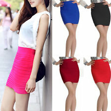 Candy Colors Female Mini Skirt Slim Seamless Stretch Tight Fitted Fine Nice CUB