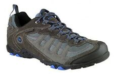 Hi-Tec Penrith Low Mens Grey Blue Waterproof Walking Hiking Trail Boots