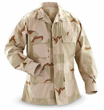 NEW USGI MILITARY DCU DESERT SUMMER SHIRT RIP STOP 50/50 Blend