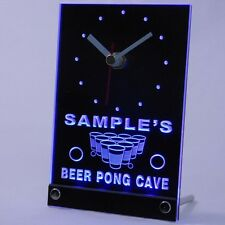 tncqr-tm Personalized Custom Beer Pong Cave Bar Beer Neon Led Table Clock