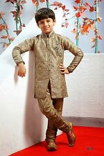 Free Shipping Designer Wedding Indian Churidar Kids Sherwani Kurta from India
