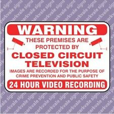 200x150 CCTV 24 Hour Recording Security Sign - White (11156)