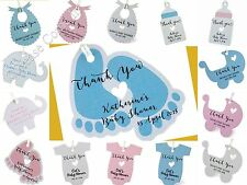 Blue/Pink Personalized Baby Shower Favor Tags/Thank You Tags/ Gift Tags
