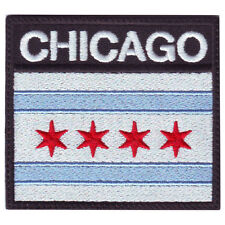 CHICAGO BADGE FLAG EMBROIDERED  PATCH