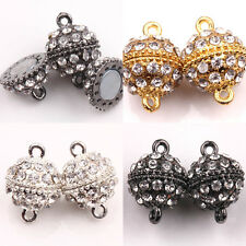 5/10 Sets Silver/Gold/Gun Black Plated Strong Magnetic Round Ball Crystal Clasps