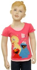 NWT Sesame Street Applique Pink Short Sleeve Tee -2T-4T