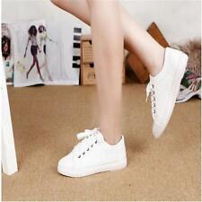 Fashion Womens Casual Canvas Athletic Sneakers Lace Up Sports Running Shoes - LD