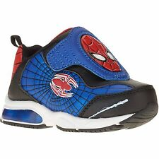 NEW NWT Toddler Boys Spiderman Light Up Sneakers Size 7 8 9 10 Blue Lights Shoes