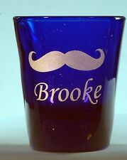 Mustache Personalized Shot Glass Engraved with name under design 2