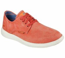 64629 Red Skechers Shoe Men New Memory Foam Casual Canvas Comfort Oxford Sneaker