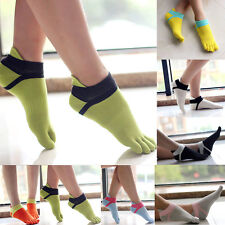 High Quality Women Comfortable Sport Ankle Protect Foot Five Fingers Toe Socks M