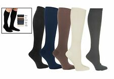 Men's Compression Therapy Knee High Black White Support Socks 20-30mmHg