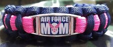 Custom United States Air Force MOM Paracord SURVIVAL Bracelet w Buckle USAF