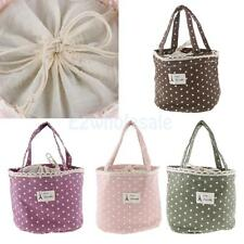 Thermal Insulated Lace Dot Lunch Box Picnic Storage Case Pouch Tote Bag Portable