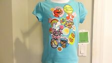 NWT Sesame Street Characters Infant Girls Sparkly Blue Tee: Sizes 12 & 24 months