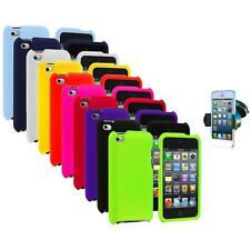 Color Hard Rubberized Case Cover+Windshield Mount for iPod Touch 4th Gen 4G 4