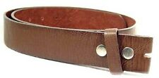 "Belt - New Brown Soft Leather Snap On Belt suits 1.5"" (40mm) Removable Buckles"