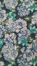 Vintage 1980's laura Ashley cotton dress blue floral size 12