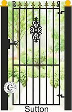 """Wrought Iron Steel Metal Side Gate - """"Sutton"""" 6ft Tall Gate"""