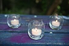 72 Clear Optic Votive Holders + 72 Votive Candles: Choose From 10 Candle Colors
