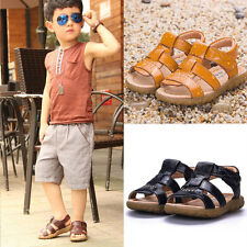 Kid Baby Boy Girl Retro Soft Leather Sandals Summer Prewalker Casual Beach Shoes