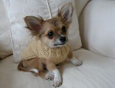 """7"""" Male Unisex Hand Made Small Dog/Puppy/Tea Cup Chihuahua Jumper/Coat DK"""